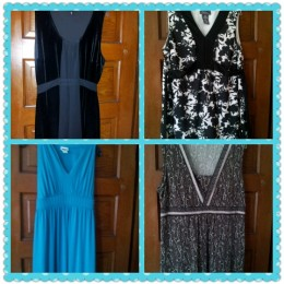 Dresses I wore during and after my pregnancies.