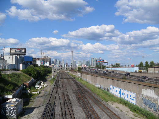 A look at downtown Toronto from far