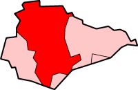 Map location of Wealden District, East Sussex