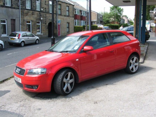 Audi A3 (2004 model) 2.0 TDI SE 3DR engine. in Brilliant Red color