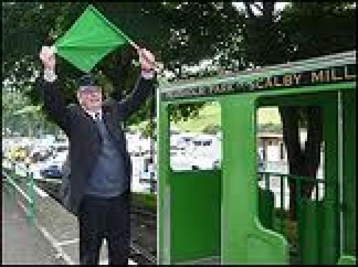 Dave Humphreys doubles as train guard