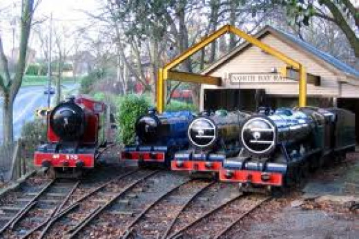 North Bay's loco depot (shouldn't it be 50E?) with the motive power ranged around in front of the shed