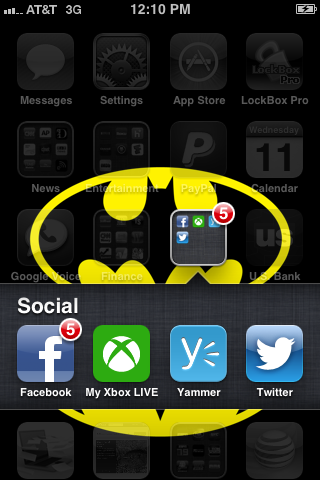 Tap the Twitter app to open it.