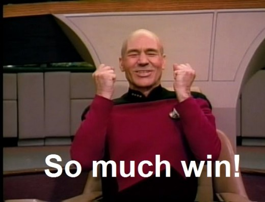 Picard knows the value of noncompetative win.