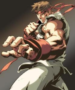 Ryu battle pose.