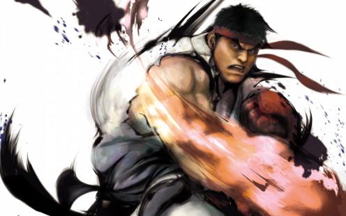 Ryu's hard right punch.