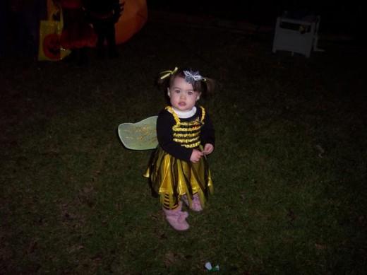 My daughter in her bumblebee costume!
