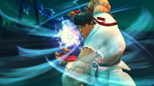 Ryu focusing his energy.