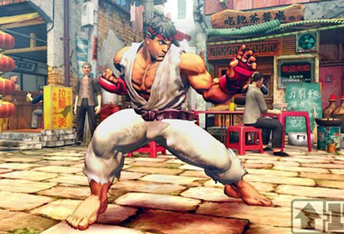 Ryu positioning for battle.