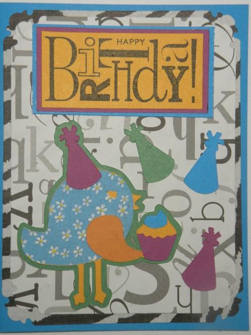 Happy Birthday birthday bird card