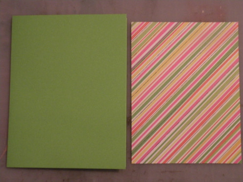base card and background cardstock