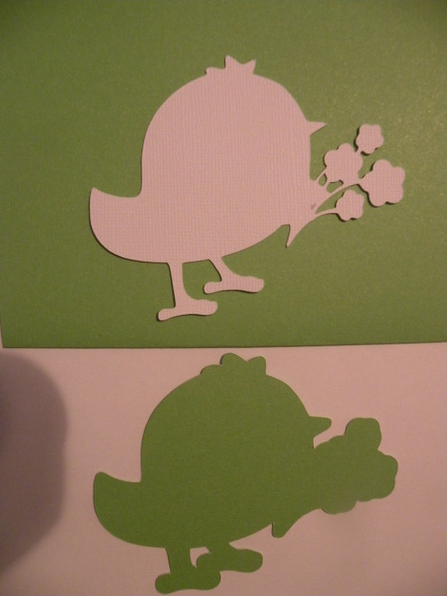 Shadow and Middle bird layers of cardstock