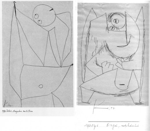 "Paul Klee, ""Angel militant"", 1939 and ""Angel, Still Ugly,"" 1940"