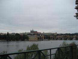 Across the river to Prague Castle.