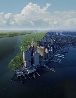 When Henry Hudson first looked on Manhattan in 1609, what did he see?