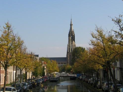 The Nieuwe Kerk from the Verwersdijk.