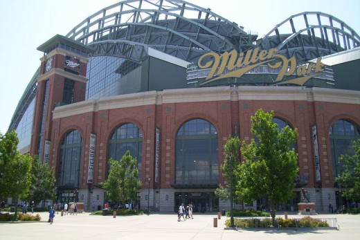 Exterior of Miller Park in Milwaukee