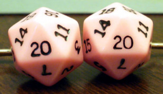 Custom Cotton Candy Pink Dice
