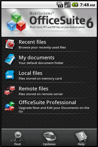 Mobisystems OfficeSuit - a good android office app