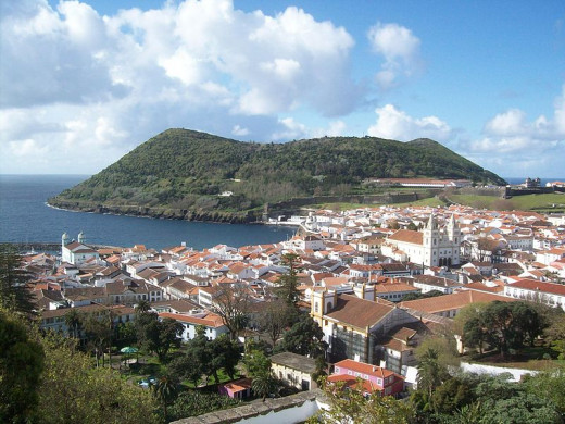 Angra do Heroismo, Terceira Island. A UNESCO World Heritage site and longest-running settlement in the Azores.