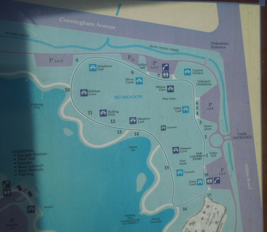 Map of  Lake Cunningham Park