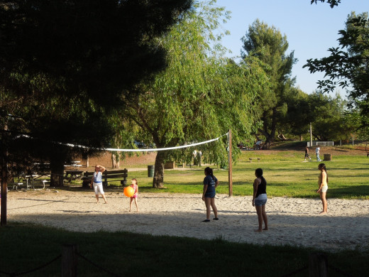 People Playing Volleyball at Lake Cunningham Park