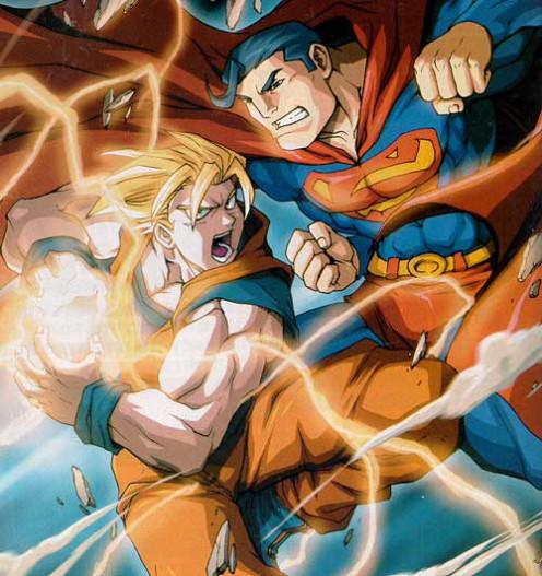 Son Goku vs Superman fan art