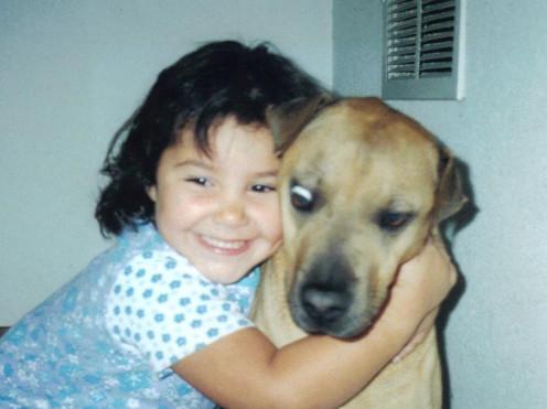 Nina and Susie the dog