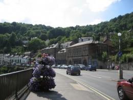 The small English town of Matlock Bath.