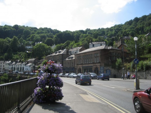 The small English town of Matlock Bath.