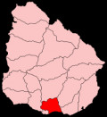 Map location of Canelones Department, Uruguay