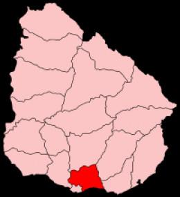 Map location of Canelones Department, Uruguay
