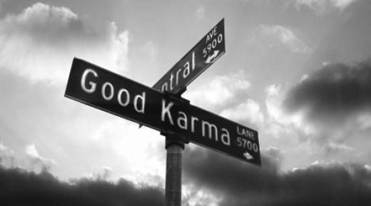 Turn here for good karma
