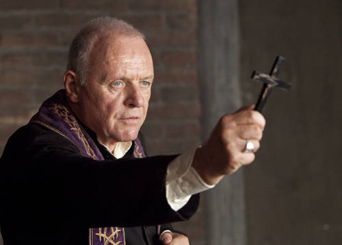 Anthony Hopkins, demon fighting priest (The Rite)