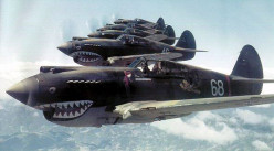 A formation of American P-40s.