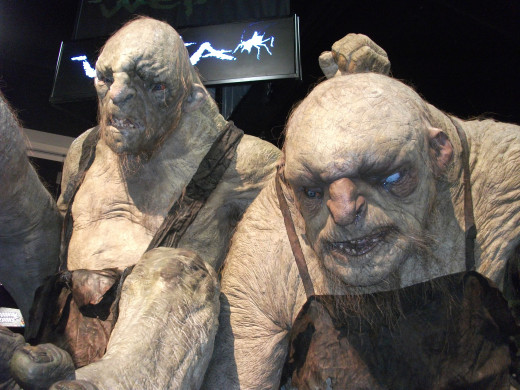 Trolls from the forthcoming movie, The Hobbit.