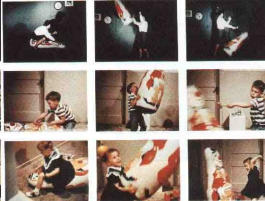 Images from the Bobo Doll studies
