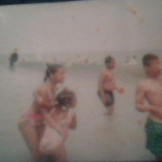 Brittany, Krista, Brandon (the cousin that tried to tell us not to go) and D.J. The day I made the paper!