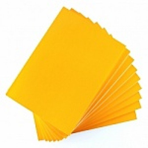 Yellow paper is often captivating.