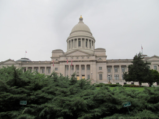 "Arkansas State Capitol should be lined in Coal, Oil and Natural gas, as these are the only ones who get ""in""."