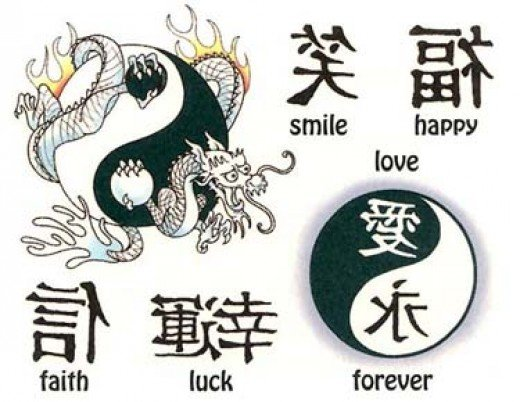 Chinese symbol tattoos are one of the designs that are most likely to go