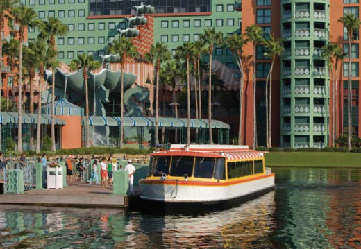 Water taxis which can take you to Epcot, Disney's Hollywood Studios or the Boardwalk where you will find ESPN and other great restaurants.