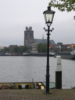 Dordrecht Cathedral from the Kalkhaven