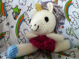 Amigurumi Ballerina Unicorn