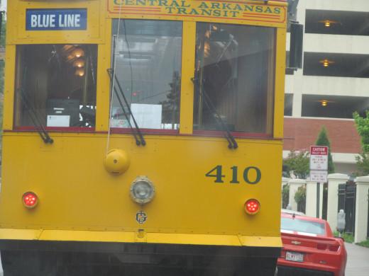 Electric tram, #410