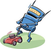 What would we name an iRobot who cuts the grass?   Mowba?  We shall see...