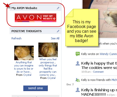 Costs me noting to promote my Avon site on Facebook.