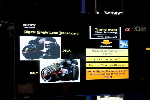 A Sony presentation on their DSLT cameras