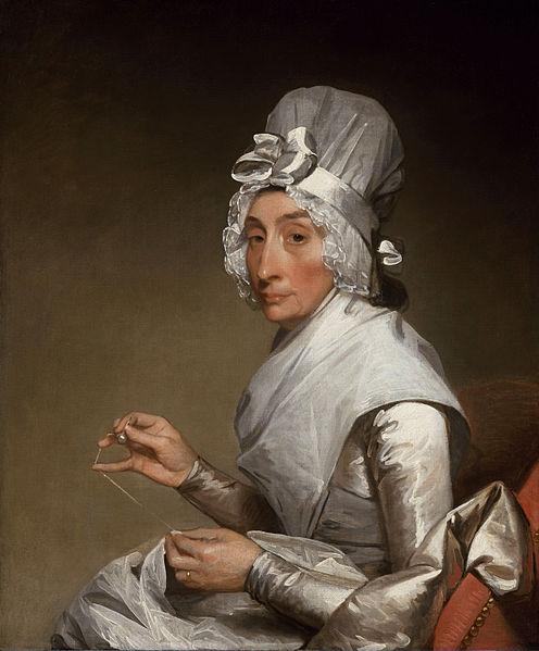 "Gilbert Stuart's ""Mrs. Richard Yates"" is in the public domain worldwide."