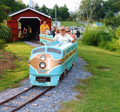 Train rides in Milton Memorial Park are available during special events such as summer concerts.